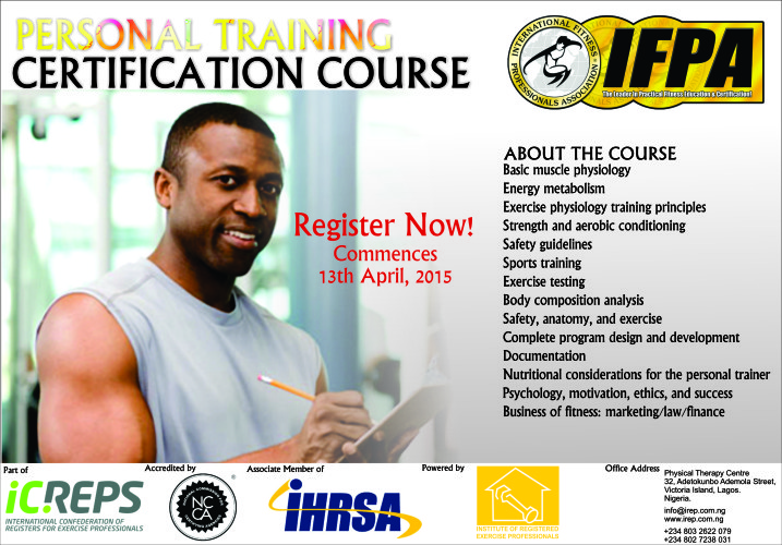 Ifpa Personal Trainer Certification Institute Of Registered